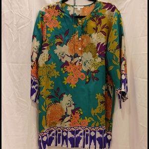 Gorgeous CAbi silk tunic